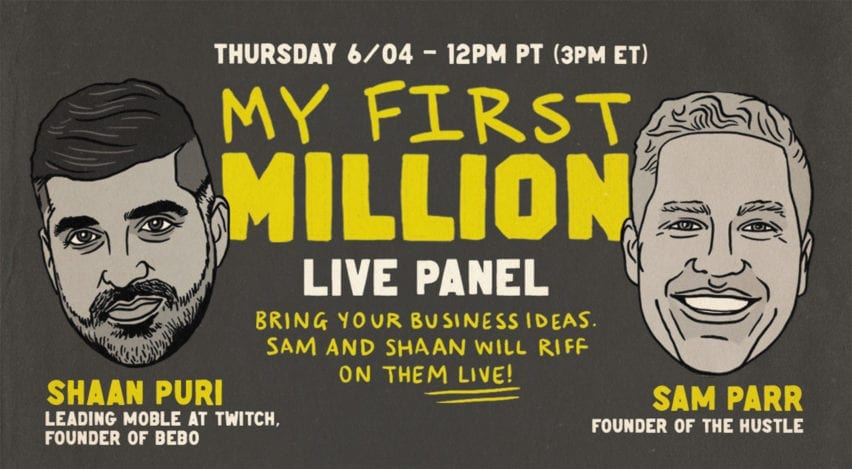 My First Million Live Panel with Sam Parr and Shaan Puri